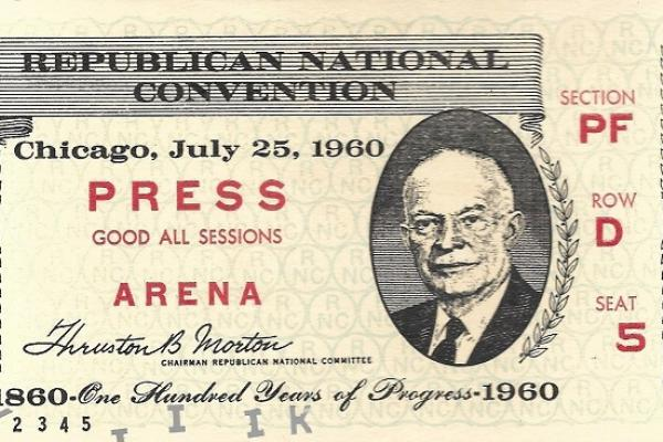 1960 RNC guest ticket
