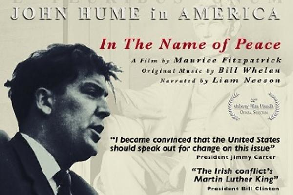 John Hume in America poster