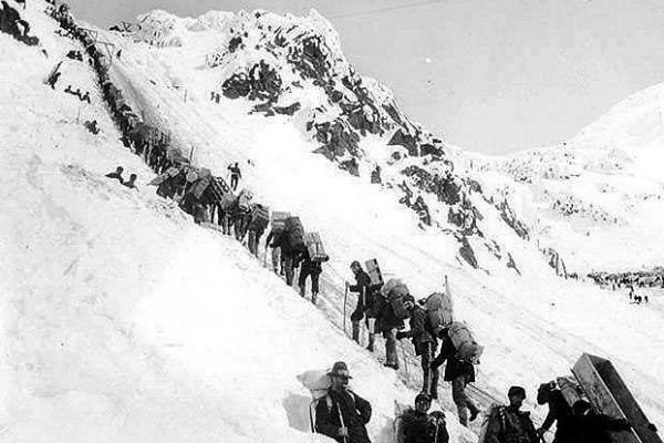 Chilkoot Pass, Klondike gold rush, 1898