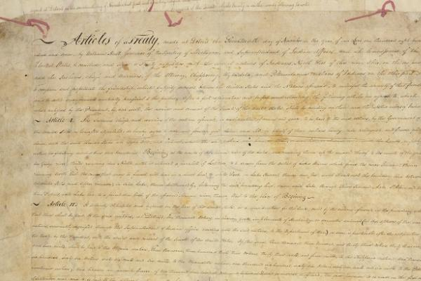 Treaty between the Ottawa Chippewa Wyandot and Potawatomi Indians