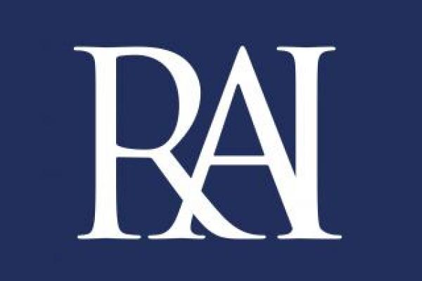 RAI Logo - white on blue