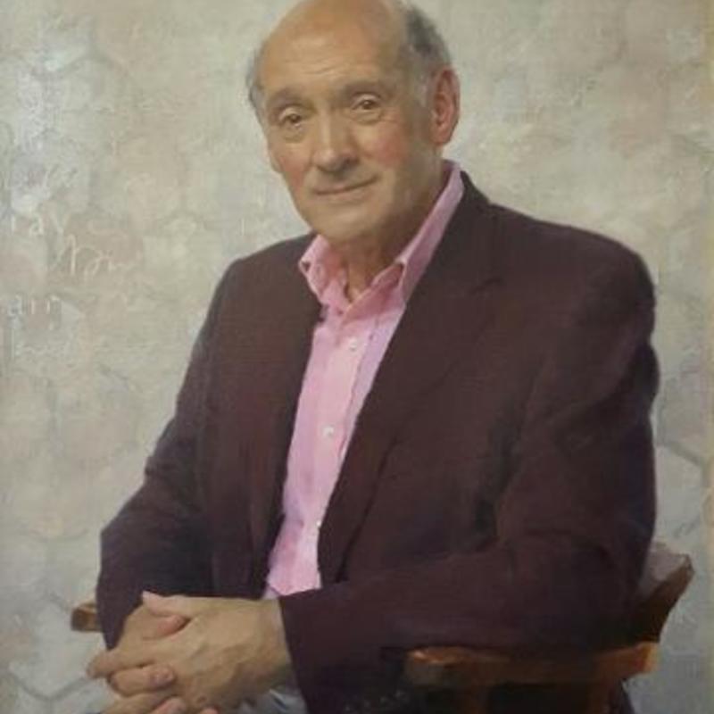 a painted portrait of Richard Carwardine