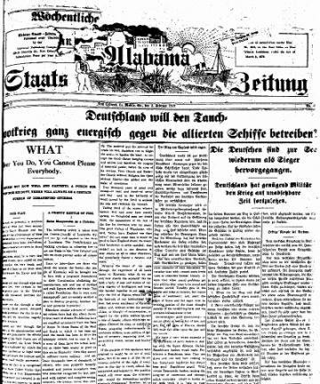 Alabama Staats-Zeitung