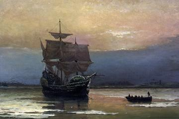 Mayflower in Plymouth Harbor, William Halsall, 1882