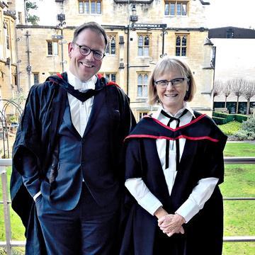 Margaret Weir with Adam Smith