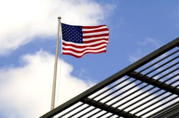 The Star Spangled Banner above the RAI