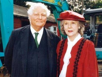 Viscount Rothermere and Lady Cromer at the groundbreaking for the RAI building
