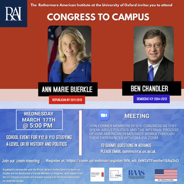 congress to campus event flyer