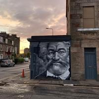 Mural of Frederick Douglass by Ross Blair, Edinburgh (Melissa Highton, Wikimedia Commons, CC BY-SA 4.0, cropped)