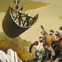 from William Gropper, Construction of a Dam (1939)