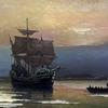 Mayflower in Plymouth Harbor, William Halsall, 1882